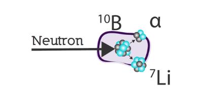 Reacción Nuclear de captura de neutrones por boro B(n,a)Li - NEUTRONES PARA MEDICINA
