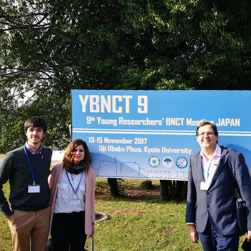 Parte del equipo de investigación en el 9th Young Researchers' BNCT Meeting de Japón - NEUTRONES PARA MEDICINA