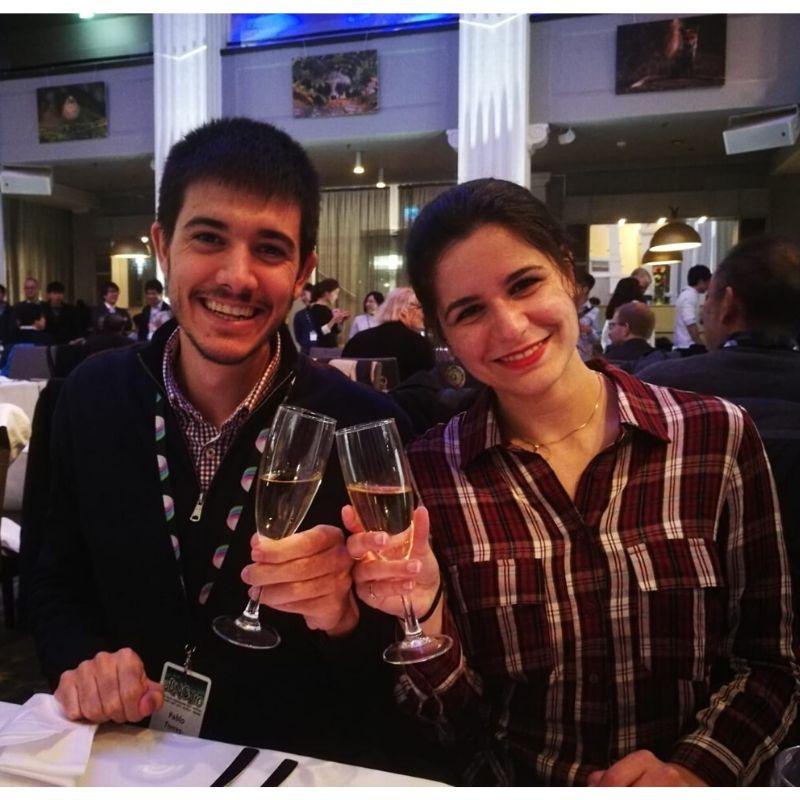 María Pedrosa y Pablo Torres en el 10th Young Researchers' BNCT Meeting - NEUTRONES PARA MEDICINA